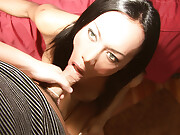 A Hot and Exotic Shemale in POV Style SheLesbian SEX