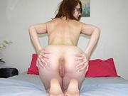 Absolute Adorable Glasses Wearing Amateur Redhead Spreading Her Ass