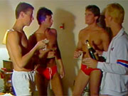 Check out this vintage speedo porn movie. Guys look great in their red speedos.