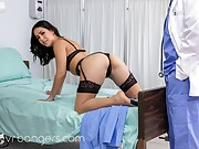 Beautiful latina in sexy lingerie gets POV slammed in bed
