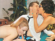 Years ago classic threesome in stockings