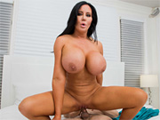 Busty bombshell treats son's friend to her boobs and pussy