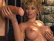 Dungeon 3D elf sex through bars