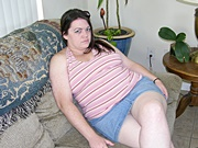 Amateur BBW Showing Up Her Skirt And Spreading Her Big Ass