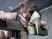 Stephie Staar kinky redhead bound and toyed with pussy exposed