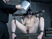 Mia Torro asian in device bondage and toyed in kinky dungeon