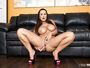 Ultimate shameless big tits photos of nasty pornstar Lisa Ann.