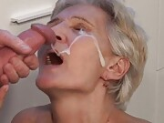 Extra shameless collection of lusty grandma gets facial gifs.