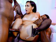 Hot Latina Vicki Chase is double porked