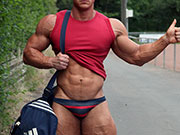 Would give this Speedo Beefcake a ride? Maybe he could give me a ride?