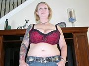 Chubby Big Breasted Amateur Girl With Short Hair Modeling Nude