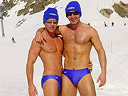 It is cold here in Australia today, not too cold to speedo it up at the pool.