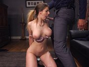 Stella Cox busty bombshell is rope bound for anal interracial sex