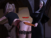 Big cock futa nun disciplines schoolgirl