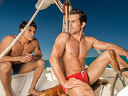 I wish it was sunny and I was hanging out with speedo guys on a boat.