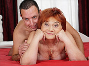 Red hair grandmother gets fucked