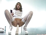 You must see this wild collections of dildo riding gifs
