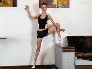 Flexy gymnast Agata Berezka aka Matilda Bae strips for nude acrobatics