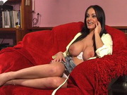 Busty british brunette Victoria Brown gives interview for UK Pussy Talk