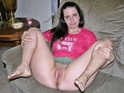 Amateur Dark Haired Girl Spreading Her Hairy Asshole