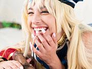 Kristen Scott's Oral Japanese Schoolgirl Cosplay