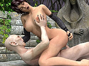 Rendered 3D sex variety with wild creatures