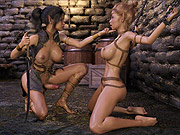 Futa elf takes advantage of chained beauty