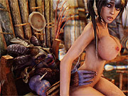 Witchdoctor fucks busty 3D babe from the village