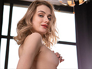 Beautiful erotic nude models posing indoors