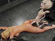 Busty 3D blonde banged by alien