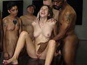 Kortney Rey Enjoys The Hell Out of Her Gangbang