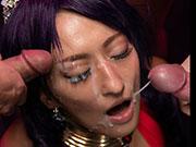 Hot Japanese MILF Rei Hoshino's Sperm Cosplay