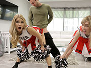 Cheerleading Workout Ends in Hot Teen Threesome