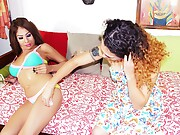 Nikki and Tania shelesbians shemales Tania Q is a horny teen