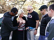 Amy Goodhead takes on four guys at once outdoor