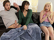 Wicked milf teaches stepdaughter with adopted son