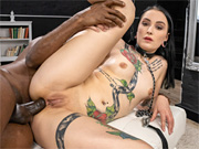 Naughty chick gets her tight ass ripped with that black dick
