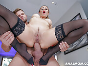Rimming busty cheating wife gets ass fucked