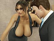 Knockers 3D secretary office sex