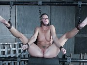 India Summer pruple dress petite bound with shaved pussy exposed