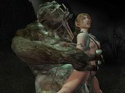 Debauchery enjoying 3D beasts in random renderings
