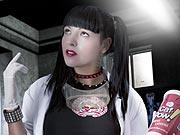 Teen cosplay as naughty tv star