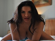 Lacey Banghard nice rake in blue lace lingerie