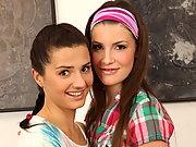 Zena & Erica - Cute teens having lesbian fun
