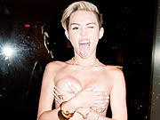 Celebrity Miley Cyrus topless shots