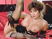 Ashlyn Gere striptease on silk sheets