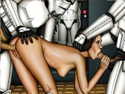 Anakin Skywalker with Padme Amidala and other film heroes in hard orgy