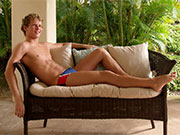 Hawaii Speedo Student just chilling out.