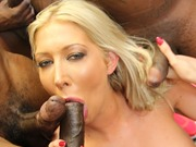 Boobed blonde Lexi Lowe gang banged with big cocks