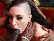 Rachael Madori in an interracial bang on big cocks